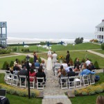 Wedding by the beach on Ogunquit, Maine